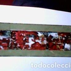 Antigüedades: CRISTAL PINTADO DE LINTERNA MÁGICA SIGLO XIX - 8,5 POR 2 CM - EDIFICIOS ANTIGUOS. Lote 63023380