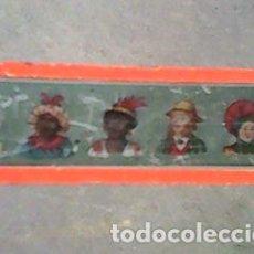 Antigüedades: CRISTAL PINTADO DE LINTERNA MÁGICA SIGLO XIX -11 POR 2,90 CM- LAS DISTINTAS RAZAS. Lote 63024468