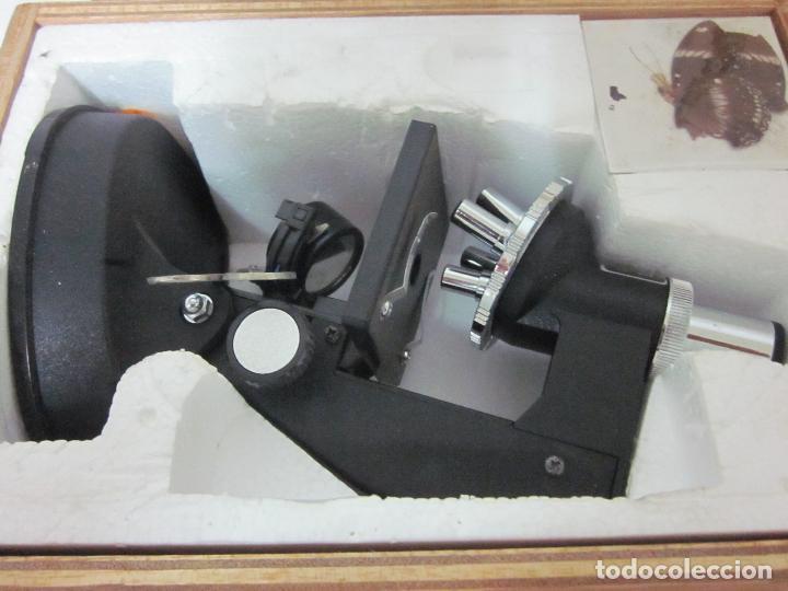 Antigüedades: Microscopio en su caja original - Foto 2 - 63028576