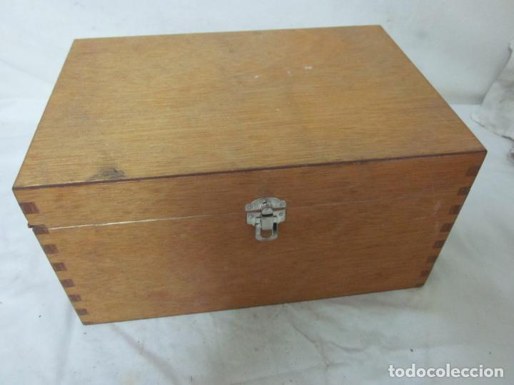 Antigüedades: Microscopio en su caja original - Foto 4 - 63028576