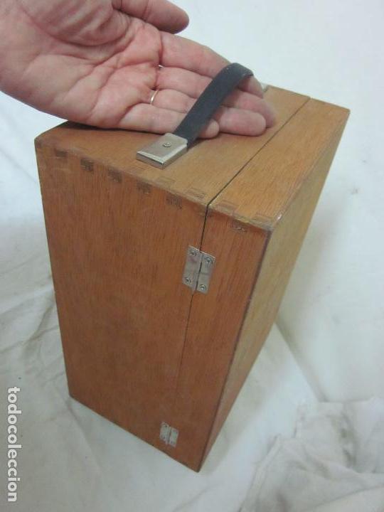 Antigüedades: Microscopio en su caja original - Foto 5 - 63028576