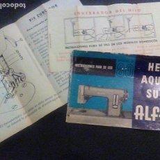 Antigüedades: MANUAL INSTRUCCIONES MAQUINA COSER BORDAR ALFA MODELO 80 . Lote 63089016