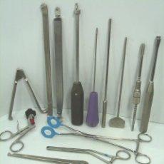 Antigüedades: LOTE INSTRUMENTAL MEDICO QUIRURJICO 13 PIEZAS- TRAUMA-GRAN CALIDAD - ACERO O TUNGSTENO. Lote 63270576