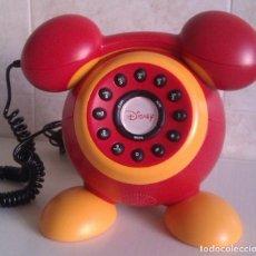 Teléfonos: BONITO TELEFONO VINTAGE DE DISNEY CON FORMA DEL LOGO DE MICKEY MOUSE ADAPTADO RED ESPAÑOLA HAY POCOS. Lote 63347776