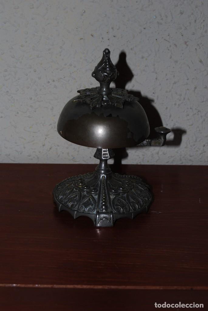 Antigüedades: PRECIOSO TIMBRE DE SOBREMESA - ART NOUVEAU - MODERNISMO - HOTEL - COMERCIO - CIRCA 1900 - Foto 2 - 63477520