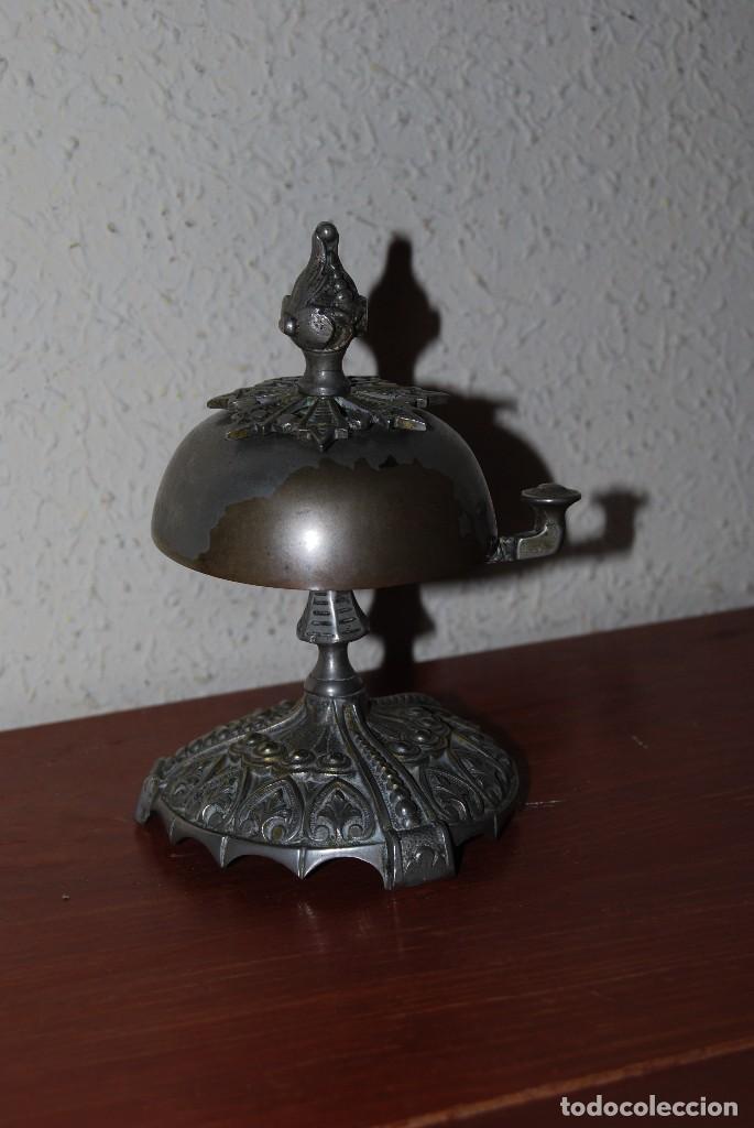 Antigüedades: PRECIOSO TIMBRE DE SOBREMESA - ART NOUVEAU - MODERNISMO - HOTEL - COMERCIO - CIRCA 1900 - Foto 3 - 63477520