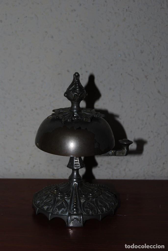Antigüedades: PRECIOSO TIMBRE DE SOBREMESA - ART NOUVEAU - MODERNISMO - HOTEL - COMERCIO - CIRCA 1900 - Foto 4 - 63477520