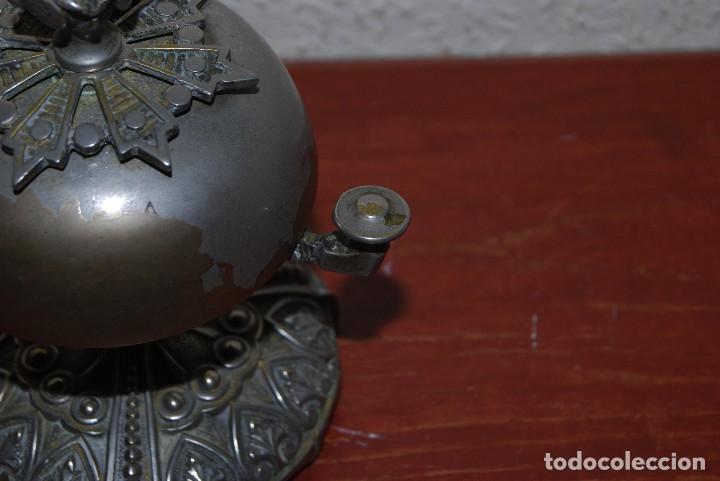 Antigüedades: PRECIOSO TIMBRE DE SOBREMESA - ART NOUVEAU - MODERNISMO - HOTEL - COMERCIO - CIRCA 1900 - Foto 7 - 63477520