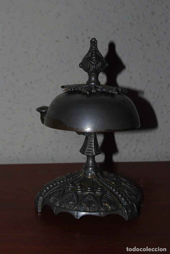 Antigüedades: PRECIOSO TIMBRE DE SOBREMESA - ART NOUVEAU - MODERNISMO - HOTEL - COMERCIO - CIRCA 1900 - Foto 10 - 63477520
