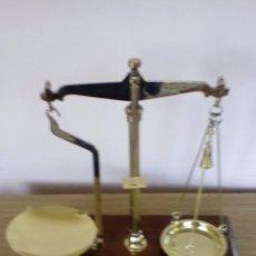 Antigüedades: BALANZA EN SU ESTADO ORIGINAL ANTIGUA. Lote 63533504