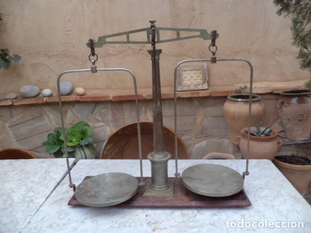 Antigüedades: Balanza Antigua de farmacia portuguesa - Foto 3 - 63574456