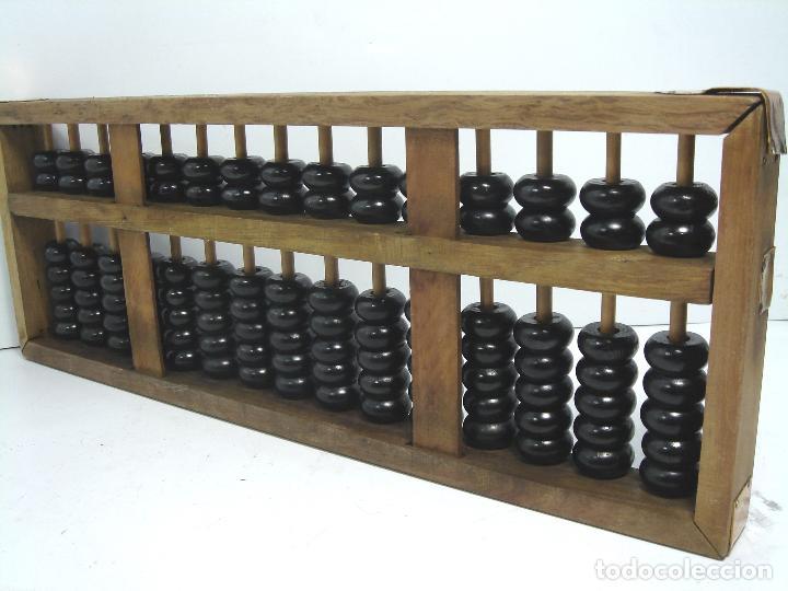Antigüedades: ANTIGUO ABACO CHINO - MADERA - 36 CMS - CHINA CALCULADORA - Foto 4 - 63693143