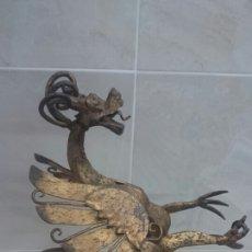 Antigüedades: DRAGON DE HIERRO FORJADO. Lote 63836399