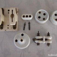 Antigüedades: ANTIGUOS ELEMENTOS DE ELECTRICIDAD EN CERAMICA. Lote 63889991