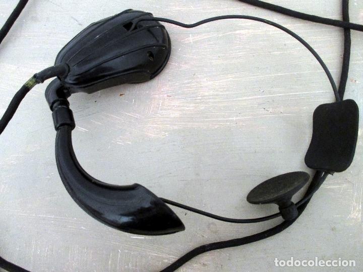 AURICULAR Y MICRÓFONO PARA TELEFONISTA OPERADORA. CENTRALITA. BAQUELITA. (Antigüedades - Técnicas - Teléfonos Antiguos)