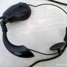 Teléfonos: AURICULAR Y MICRÓFONO PARA TELEFONISTA OPERADORA. CENTRALITA. BAQUELITA.. Lote 63894847
