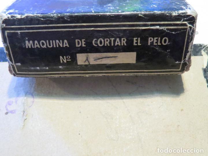 Antigüedades: ANTIGUA MAQUINA DE CORTAR PELO MARCA GURELAN CON SU CAJA ORIGINAL - Foto 10 - 64011323