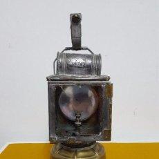 Antigüedades: FAROL SEMÁFORO FERROVIARIO DE MANO.. Lote 64015195