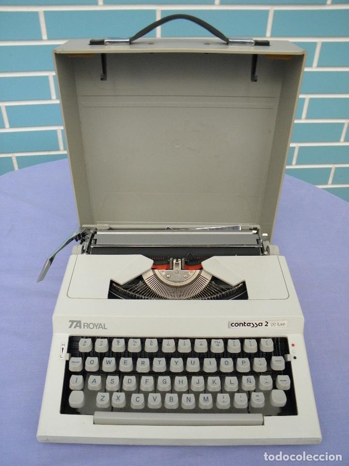 Antigüedades: Máquina de escribir antigua modelo TA Royal Contessa 2 de luxe - Foto 3 - 64155343