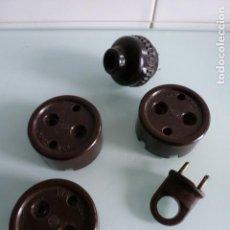 Antigüedades: LOTE DE MATERIAL ELECTRICO DE BAQUELITA. Lote 64286595