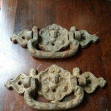 Antigüedades: ANTIGUOS TIRADORES EN FORJA PRECIOSO ESTILO . Lote 64438093
