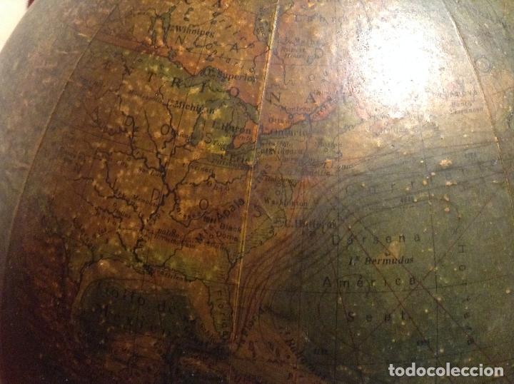Antigüedades: GLOBO TERRAQUEO FISICO POLITICO ESPAÑOL ART DECO AÑOS 30 BOLA DEL MUNDO 25 CM DIAMETRO - Foto 8 - 53403933