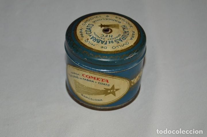 ANTIGUA CAJA / CAJITA DE HOJALATA - MARCA COMETA - MUY ANTIGUA - PRECIOSAS - SIN OXIDO (Antigüedades - Técnicas - Máquinas de Coser Antiguas - Complementos)