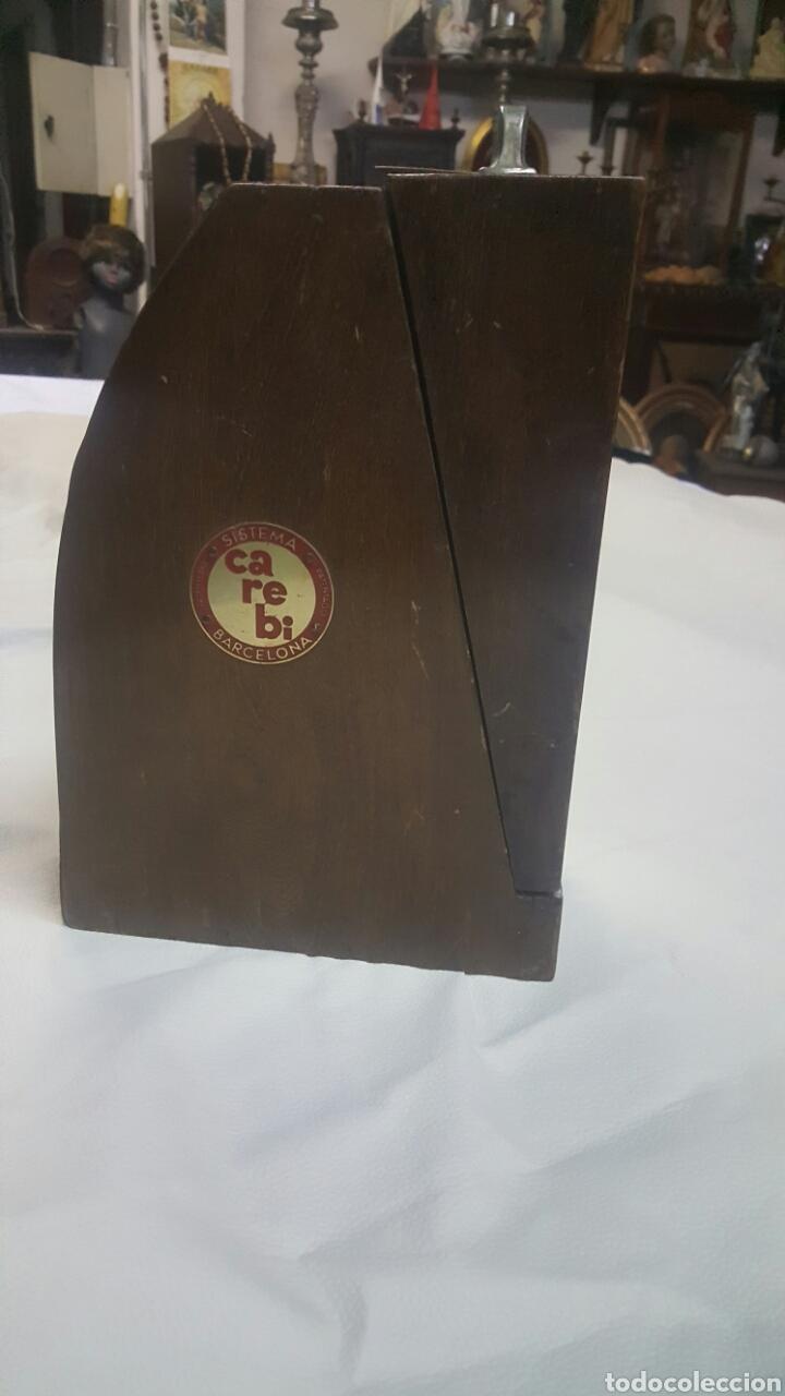 Antigüedades: CAJA REPARTIDORA DE BILLETES PORTÁTIL, CAREBI SISTEMA PATENTADO. CON BILLETES, ÚNICA, PIEZA DE MUSEO - Foto 5 - 64666281