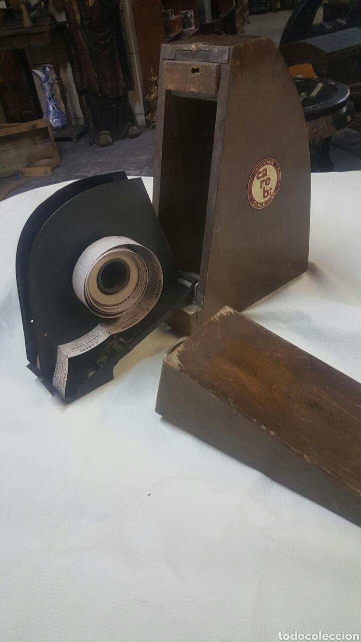 Antigüedades: CAJA REPARTIDORA DE BILLETES PORTÁTIL, CAREBI SISTEMA PATENTADO. CON BILLETES, ÚNICA, PIEZA DE MUSEO - Foto 7 - 64666281