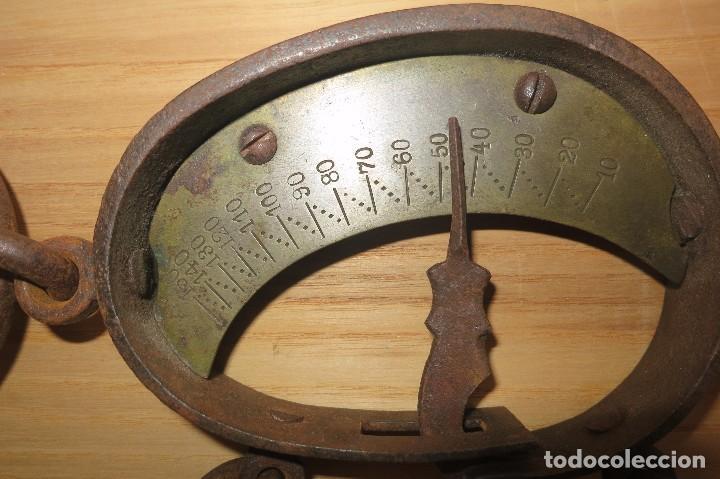 Antigüedades: balanza de Flexion 20 a 150 signo FARMACIA - Foto 2 - 64741671