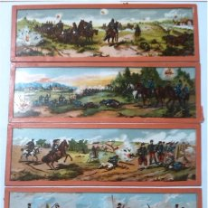 Antigüedades: LOTE DE 4 CRISTALES PARA LINTERNA MAGICA. Lote 64771111