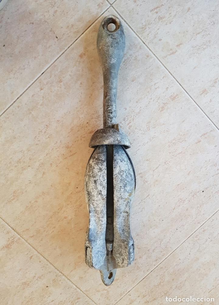 Antigüedades: Gran ancla antigua de cuatro aspas . - Foto 5 - 64778803