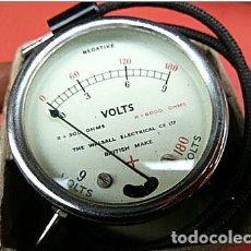 Antigüedades: VOLTÍMETRO WALLSAL MEDICION 8 HASTA 180 VOLTIOS. Lote 64890059