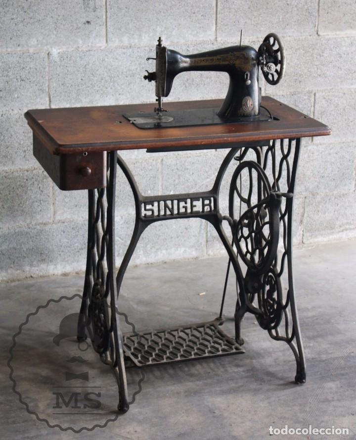 Antigua m quina de coser singer 15 a os 20 comprar m quinas de coser antiguas singer en - Mesa maquina coser singer ...