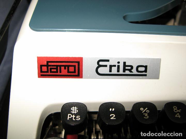 Antigüedades: Maquina de Escribir Erika en su Estuche Original con Manual y Cepillos de Limpieza - Foto 4 - 65729446