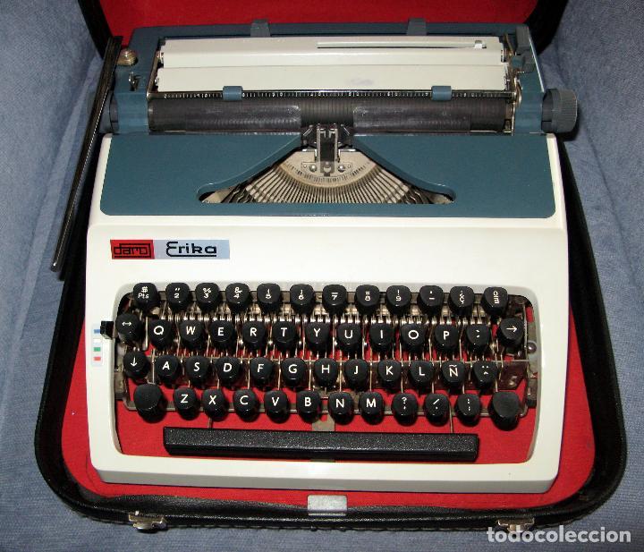 Antigüedades: Maquina de Escribir Erika en su Estuche Original con Manual y Cepillos de Limpieza - Foto 5 - 65729446