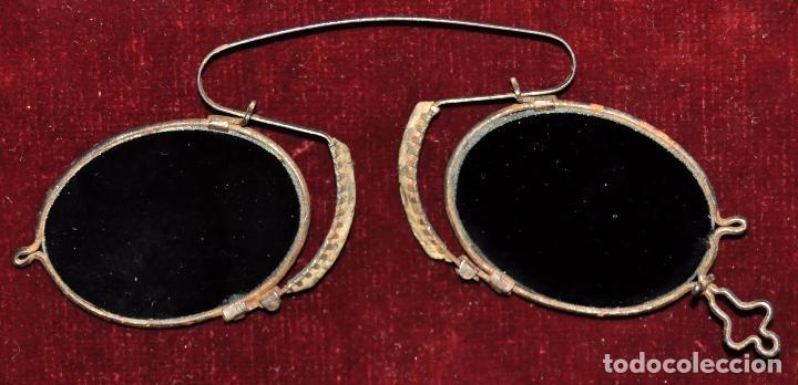 Antigüedades: LOTE DE 3 GAFAS DE PRINCIPIOS DEL SIGLO XX CON SUS ESTUCHES CORRESPONDIENTES - Foto 4 - 65739938