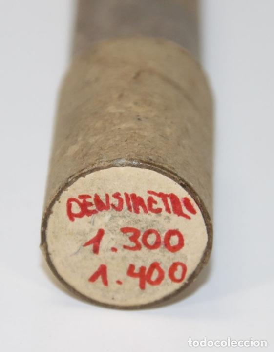 Antigüedades: ANTIGUO DENSÍMETRO EN CRISTAL. ESPAÑA. SIGLO XIX. CAJA ORIGINAL. - Foto 7 - 65753122