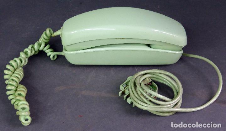 TELÉFONO GÓNDOLA VERDE CITESA MÁLAGA AÑOS 70 (Antigüedades - Técnicas - Teléfonos Antiguos)