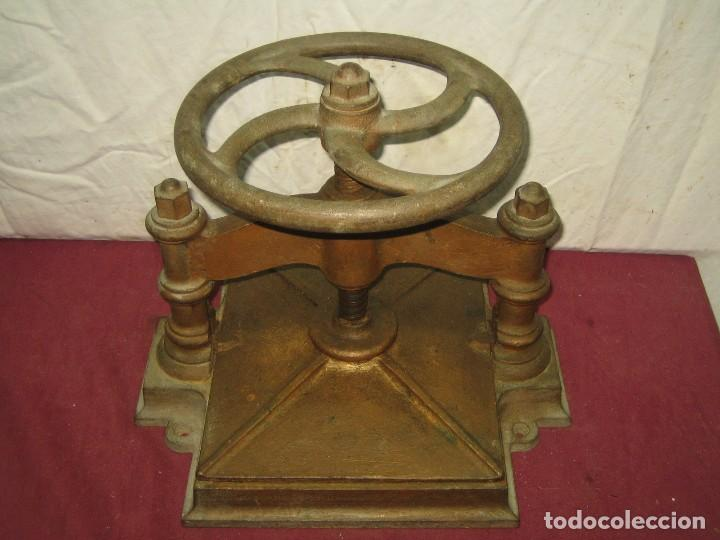 Antigüedades: PRENSA DE ENCUADERNACION / IMPRENTA / LIBRERIA... XIX - Foto 2 - 66029034