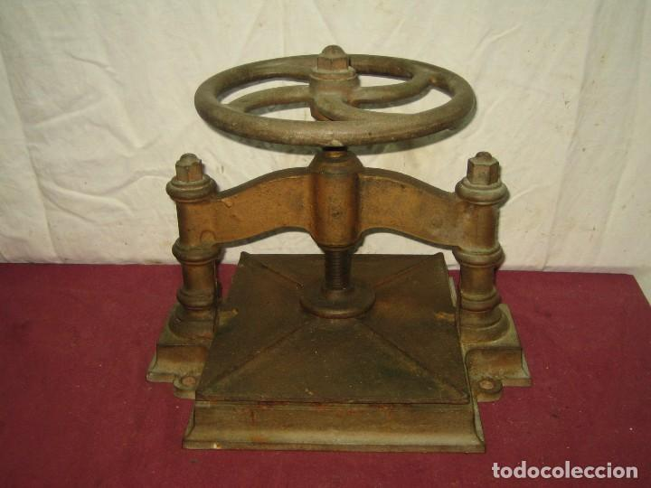 Antigüedades: PRENSA DE ENCUADERNACION / IMPRENTA / LIBRERIA... XIX - Foto 4 - 66029034