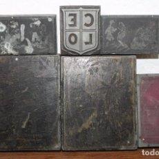 Antigüedades: 6 PLANCHAS DE IMPRENTA CON ILUSTRACIONES - PRINCIPIOS DEL SIGLO XX. Lote 66046750