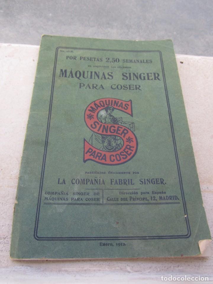 CATÁLOGO MAQUINAS DE COSER SINGER 1912 (Antigüedades - Técnicas - Máquinas de Coser Antiguas - Otras)