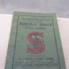 Antigüedades: CATÁLOGO MAQUINAS DE COSER SINGER 1912. Lote 66105310