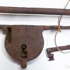 Antigüedades: ANTIGUO CERROJO DE ALDABA. Lote 66780582