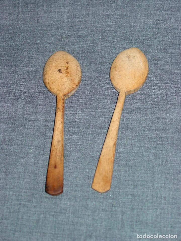 Antigüedades: 2 CUCHARILLAS DE MADERA LABORATORIO. FARMACIA. QUIMICA. PRINCIPIOS 1900 - Foto 2 - 66850602