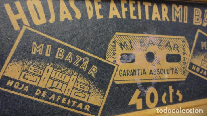 Antigüedades: ANTIGUA CAJA DE MADERA O EXPOSITOR.HOJAS DE AFEITAR MI BAZAR.AÑOS 40? - Foto 10 - 66959226