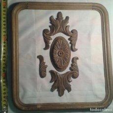 Antigüedades: ADORNO PARA MUEBLE EN MADERA DE HAYA. Lote 67005238