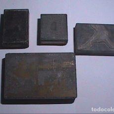 Antigüedades: LOTE DE 2 GRABADOS GALVANOS IMPRENTA Y 2 NEGATIVOS EN PLANCHA IMPRENTA.FINALES DEL S.XIX.TARRAGONA.. Lote 67039870
