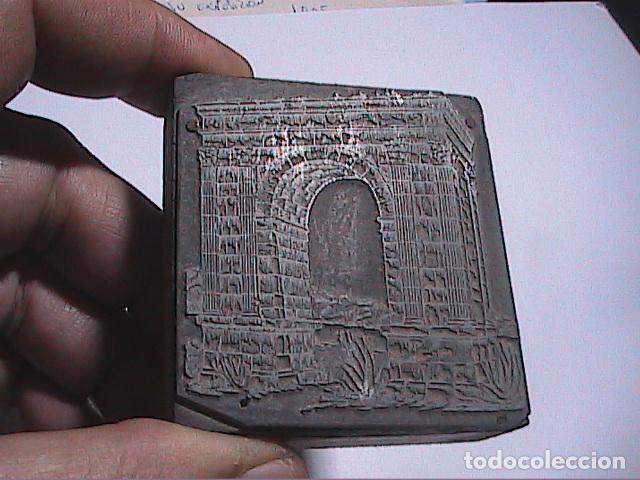 Antigüedades: LOTE DE 2 GRABADOS GALVANOS IMPRENTA Y 2 NEGATIVOS EN PLANCHA IMPRENTA.FINALES DEL S.XIX.TARRAGONA. - Foto 2 - 67039870